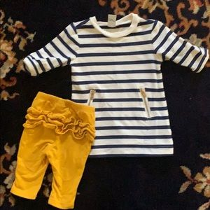 Old navy dress and ruffle legging